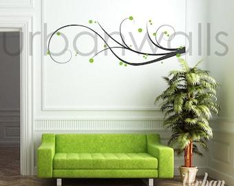 Vinyl Wall Sticker Decal Art - Swirl Away