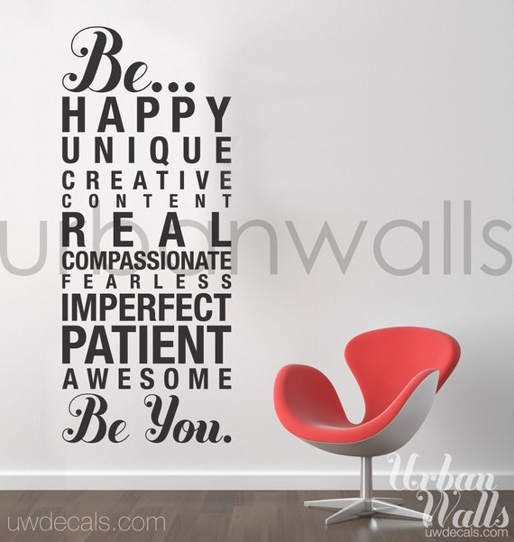Vinyl Wall Sticker Decal, Be You