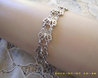 Vintage Sterling Siver Butterfly Bracelet