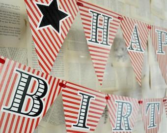 DIY Printables - Happy Birthday Banner