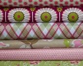 DESTASH: MODERN MEADOW - Berry Pink Grass 1/2 Yard Bundle - 3 Yards Total