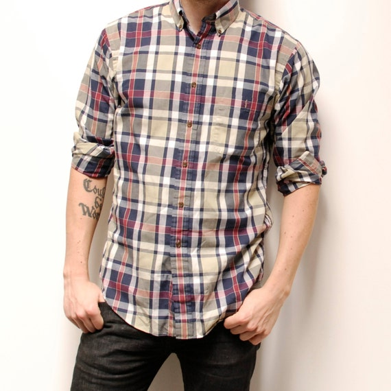 BLOCK woodland plaid shirt long sleeve SOFT button up
