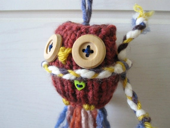 Christmas Ornament- Multi Colored Russet Owl