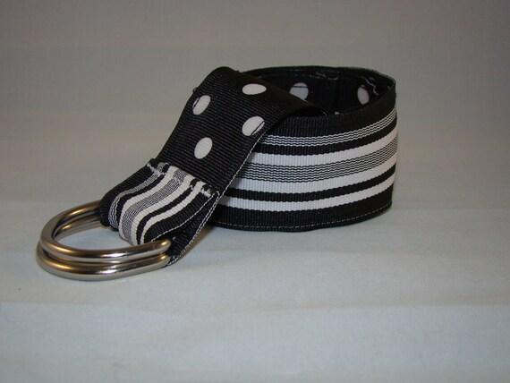 CLEARANCE -Preppy Reversible  Grosgrain Ribbon Belts