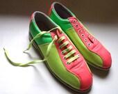 Super Bright Neon Bowling Shoes - Men's Size 8