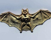 2 Large Bat with Wings Brass Metal Stampings