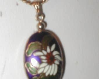 Vintage Cloisone Pendant Necklace signed AVON