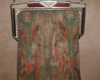 Antique Vintage Mesh Flapper Purse signed, WHITING and DAVIS