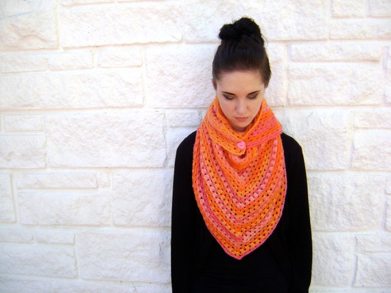 Crochet Pattern for Orange Smoothie Scarf - Easy Quick Pattern for Teen to Woman INSTANT DOWNLOAD