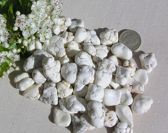 10 Natural White Magnesite Crystals