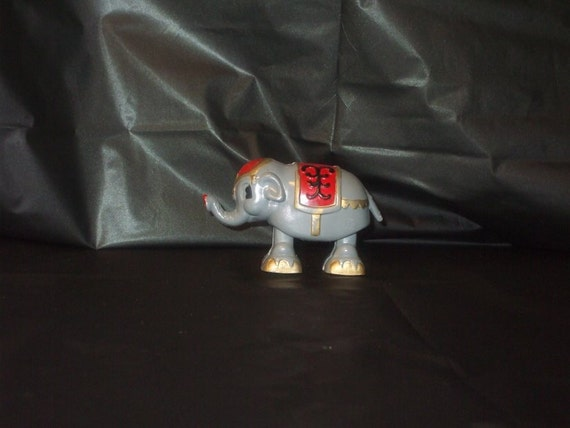 Vintage Japan MARX Like Circus Elephant Plastic Ramp Walker Pull Toy