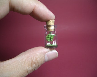 Will you marry me at a green tree in a tiny bottle B