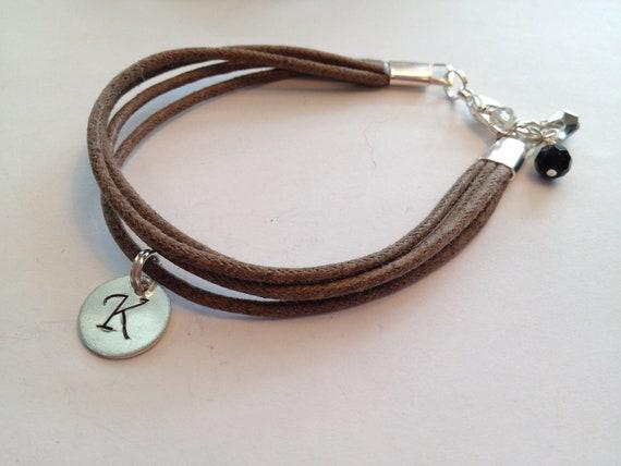Brown Cotton Cord Bracelet