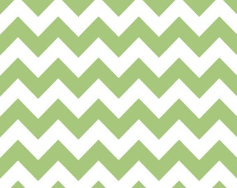 Medium Chevron Fabric in Green by Riley Blake Fabrics, 1 Yard