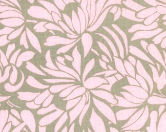 Amy Butler Fabric, Daisy Bouquet in Grey, Daisy Chain Collection, 1 Yard