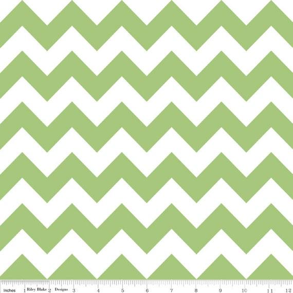 Medium Chevron Fabric in Green by Riley Blake Fabrics 1 Yard
