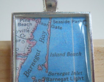 Barnegat Bay New Jersey Map Pendant