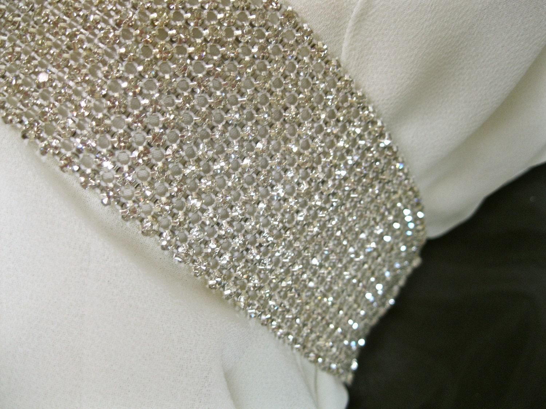 Bridal Rhinestone Sash Beaded Crystal Sash Wedding Gown