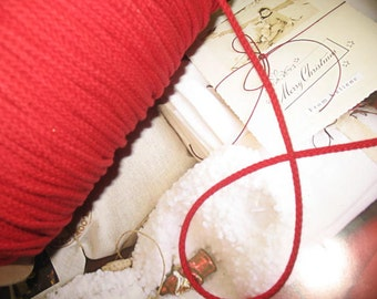 """55 yards 1/8"""" in RED ( Cardinal ) cotton cords rope"""