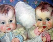 2-Sided Twins and Pretty in Pink - 1933 Print - Art by Florence Kroger
