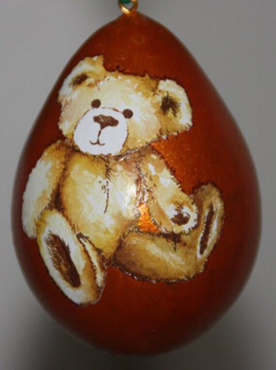 Cute Teddy Bear Gourd Ornament