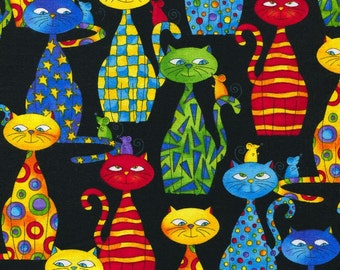 Packed Cats - Timeless Treasures - Fat Quarter