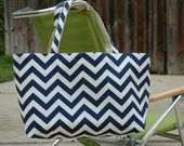 The Original Pollyanna's Beach Tote in Chevron-RESERVED LISTING for EHorton