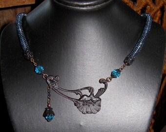 Blue Poppy Necklace