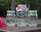 3 Piece Mason Jar Sand Ceremony set, Wedding Ceremony, Personalized Engraved Ceremony set, Wedding Keepsake, Family Sand Ceremony Set