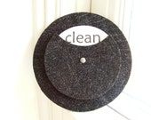 CIJ SALE - Clean Dirty Dishwasher Magnet in Noir Glitter - thetullebox