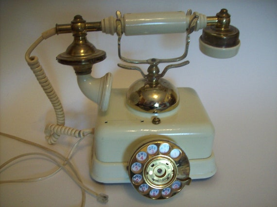 Vintage Telephone - European Style with Dial