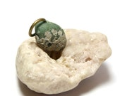 """1800's Vintage Bead Slag Glass Jewelry- Drilled Sage White Inland Seaglass Beach Stone Pendant- """"Seafoam"""" by Allybeans"""