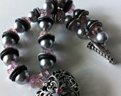 Chunky Heart Necklace, Bracelet and Earring Set