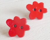 hypo allergenic titanium posts red cloud studs for sensitive ears, nickel free earrings for kids, hypoallergenic girls earrings
