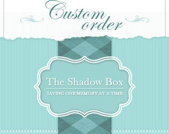 CUSTOM ORDER: Brianna B. Wedding Keepsake Box with Engraved Nameplate