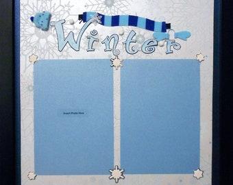WINTER DAY Memory Album Page (Black Veneer Shadow Box Frame Sold Separately)