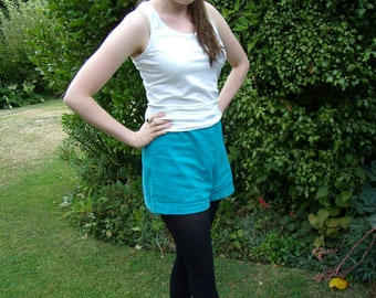 1960's Turquoise Cord Tap Shorts