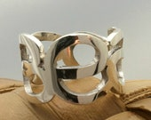 Sterling Silver Name Number Ring, Your Name Ring, Personalized Jewelry