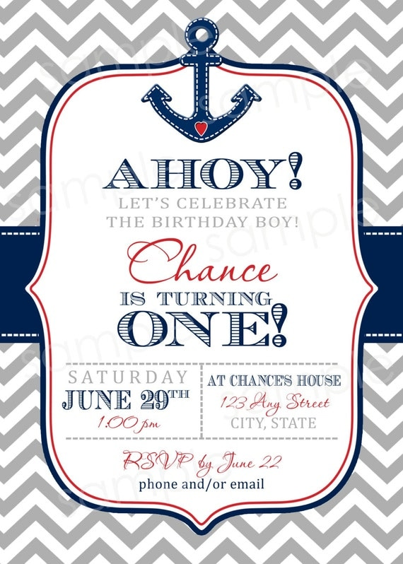 Baby Shower Nautical Theme Invitations is good invitations sample