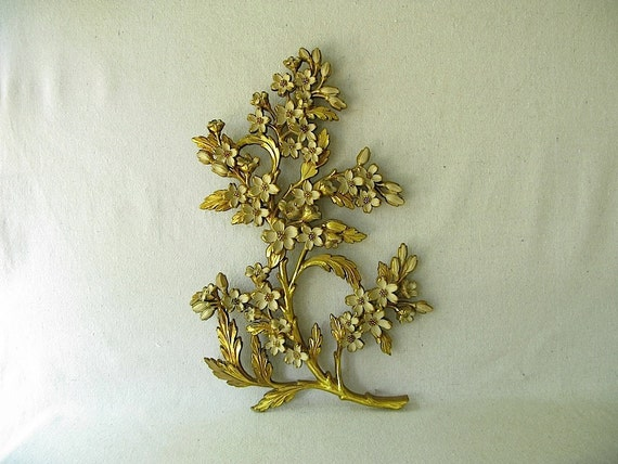 Syroco Gold Flower Wall Decor Hanging
