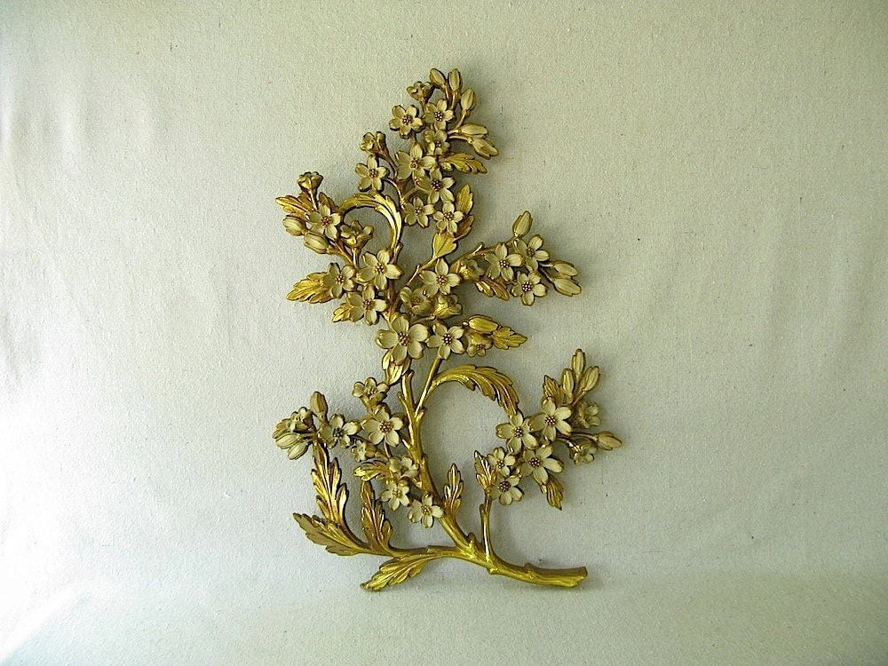 Syroco Gold Flower Wall Decor Hanging By PassedBy On Etsy