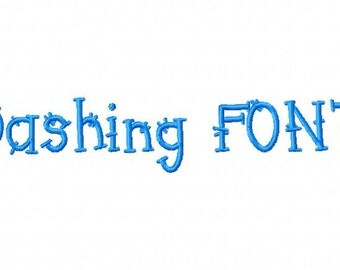 Dashing Font Machine Embroidery Design INSTANT DOWNLOAD BX