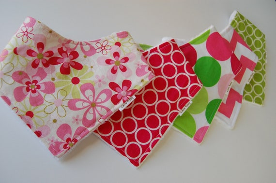 Bandana Bibs - Choose Your Own Fabric For a Set of 5 Baby Bibs