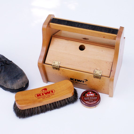 Vintage Shoeshine Box Kiwi Shoe Groomer