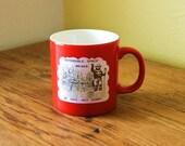 Vintage Smokey The Bear Forest Service Coffee Mug - Red