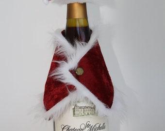 Santa Bottle Jacket and Hat