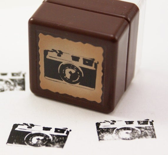 PHOTO REAL old fashioned 35mm manual Camera Self-Inking Rubber Stamp