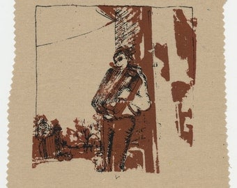 The Accordion Player - Screenprinted Patch