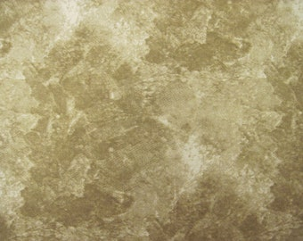 Mottled Brown Washart  Fabric by Southsea Imports 1/2 yd.