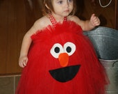 Elmo Inspired Tutu Dress for dress up or birthday dress Big Bird Oscar Cookie Monster Elmo Abby Cadabby